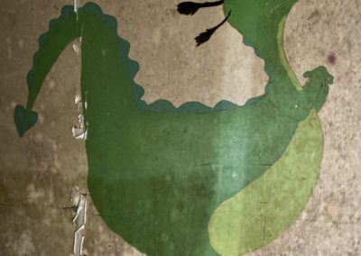 disney Petes dragon elliot green painting