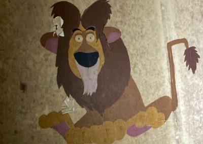 mufasa disney lion mural painting