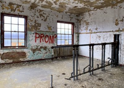 abandoned school room prom