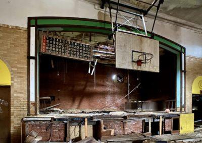abandoned 1920s bingo hall